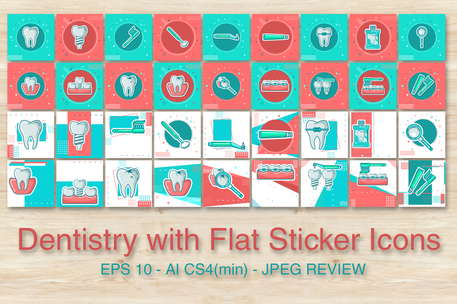Dentistry with Flat Sticker Icons example image 2