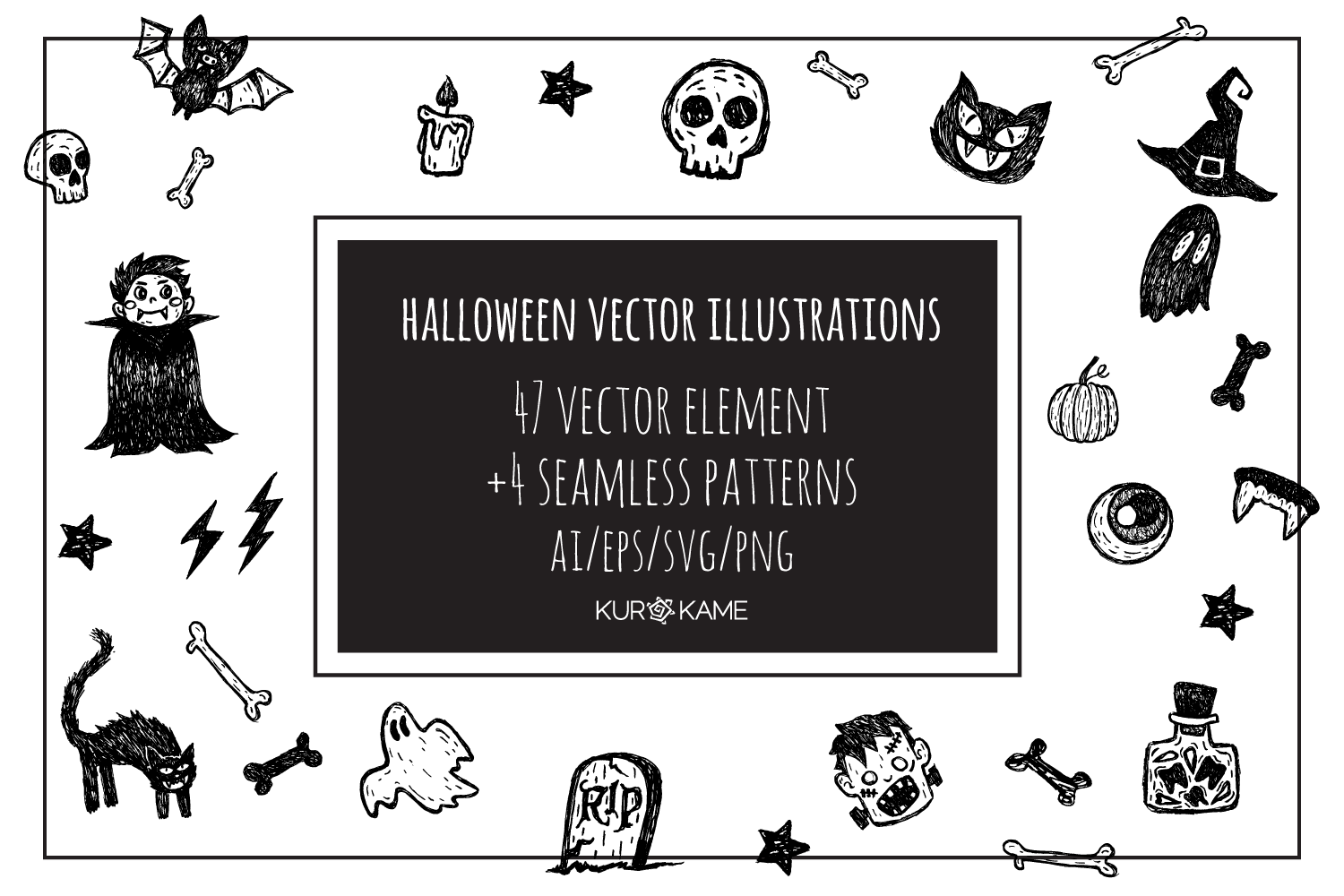Halloween Vector Illustrations example image 1