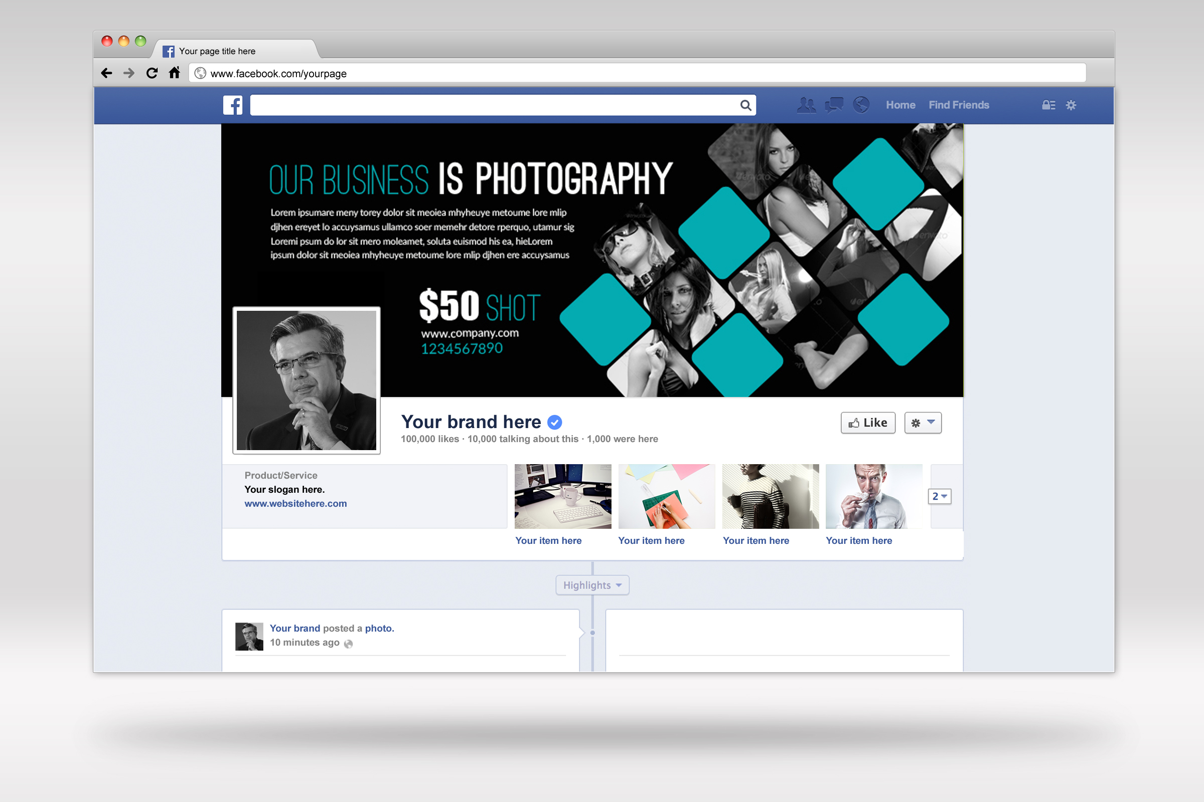 Photography Business Facebook Timeline example image 3