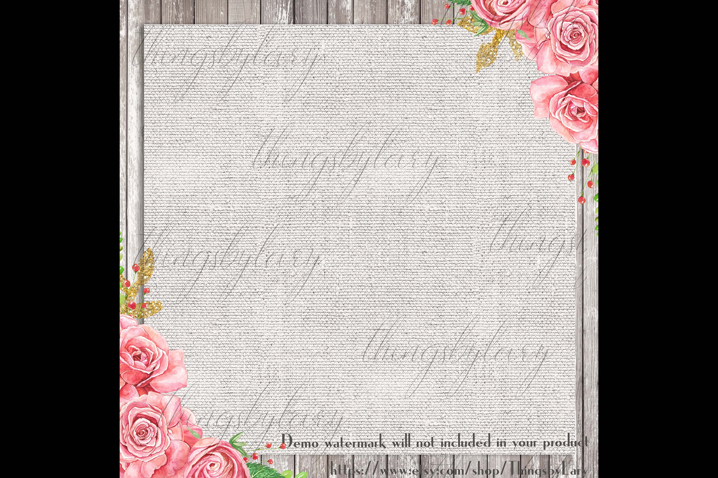 18 Seamless Realistic Neural Linen Burlap Digital Papers example image 4
