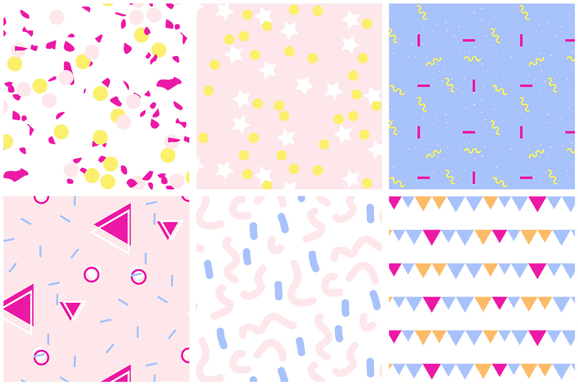 Party Patterns set of 12 example image 6