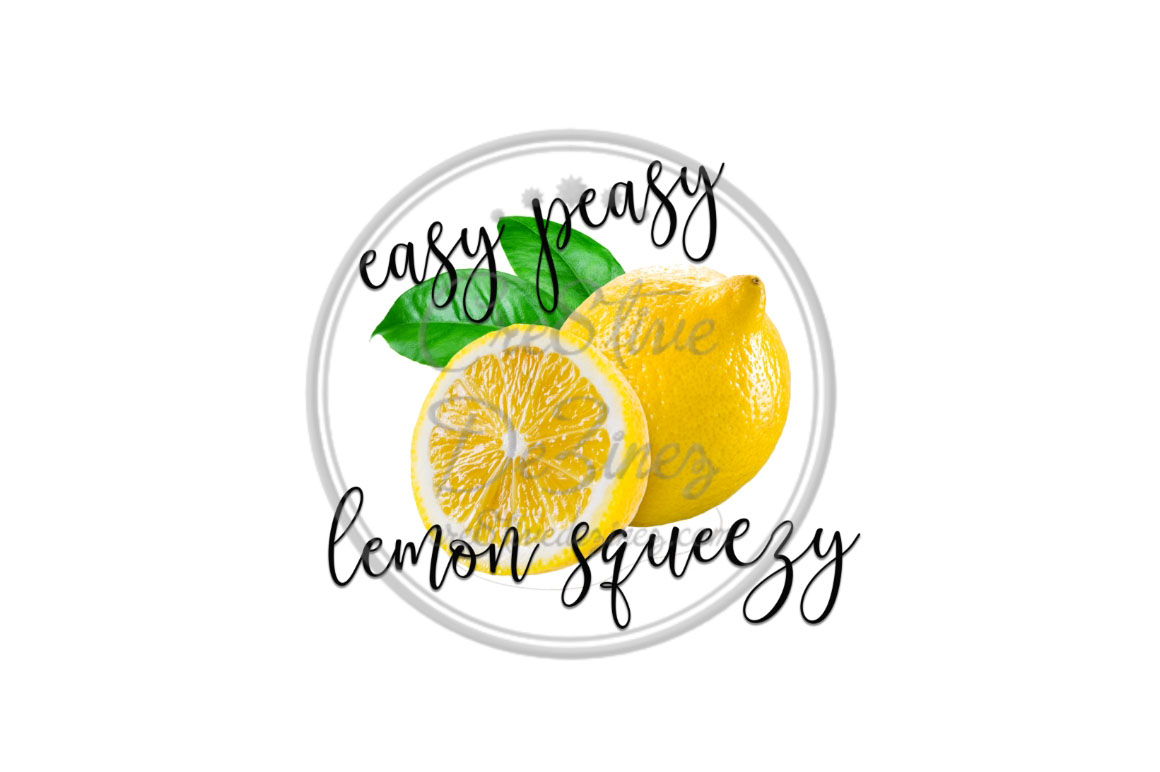 Easy Peasy Lemon Squeezy - Kitchen Pun - Sublimation File example image 1