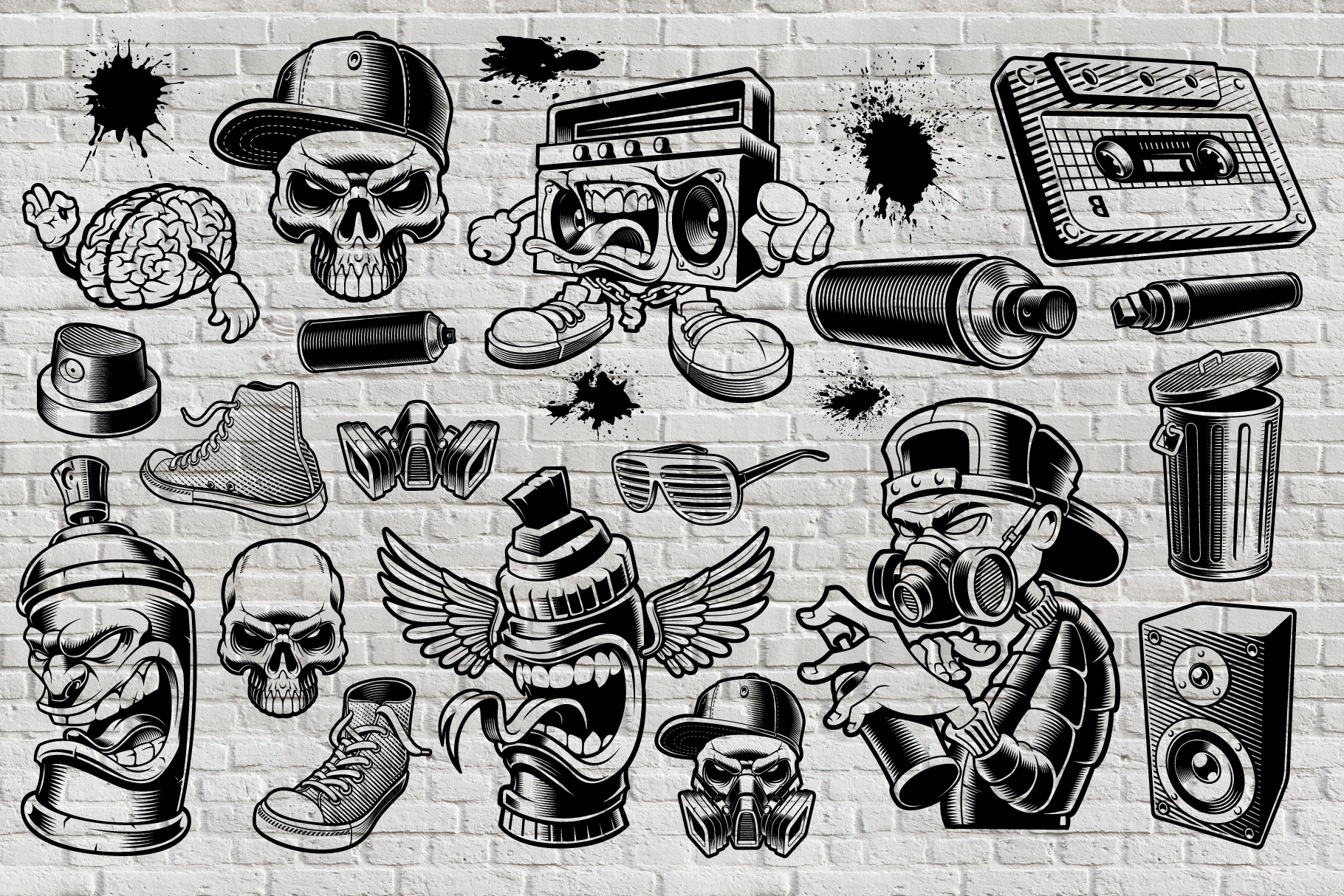 Graffiti Vectors Bundle example image 4