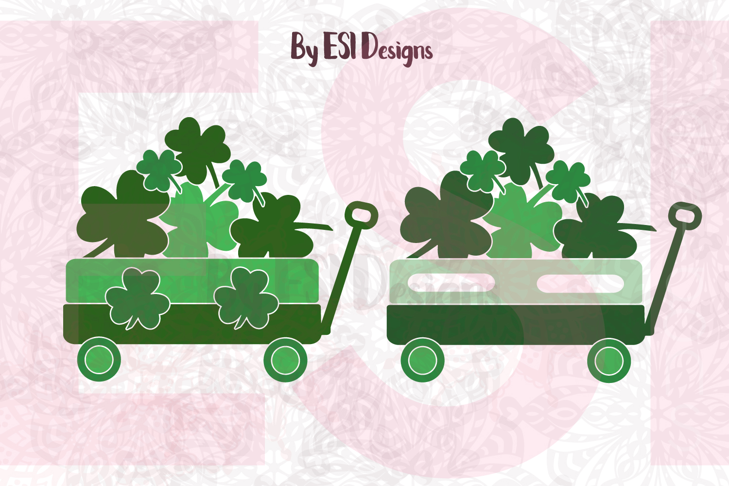 St Patrick's Day Little Wagon - Shamrocks example image 3