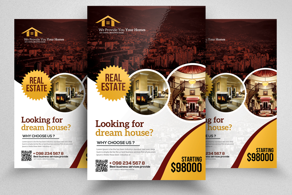 4 Real Estate Flyers Bundle example image 4