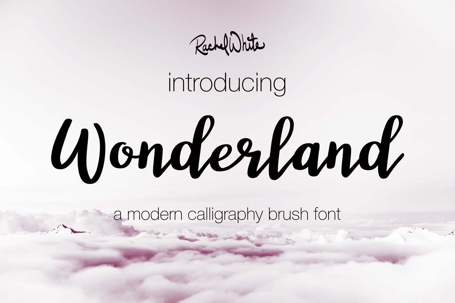 Wonderland, a modern calligraphy font example image 2