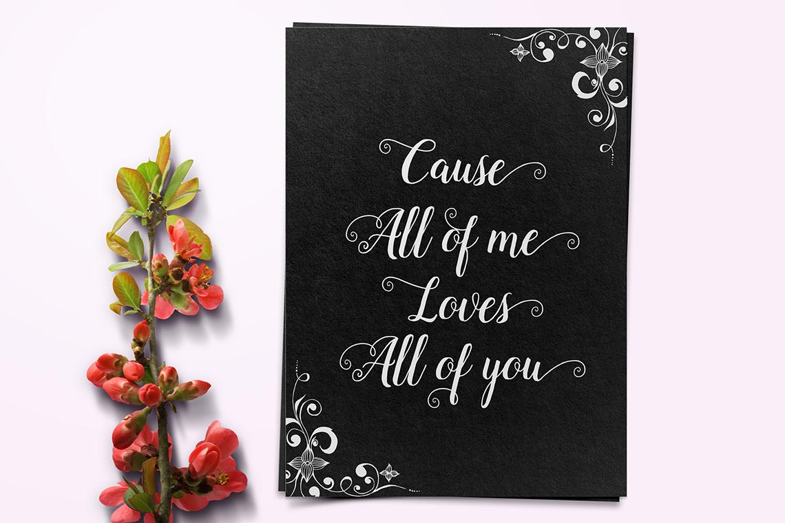 Lady Love Script example image 2