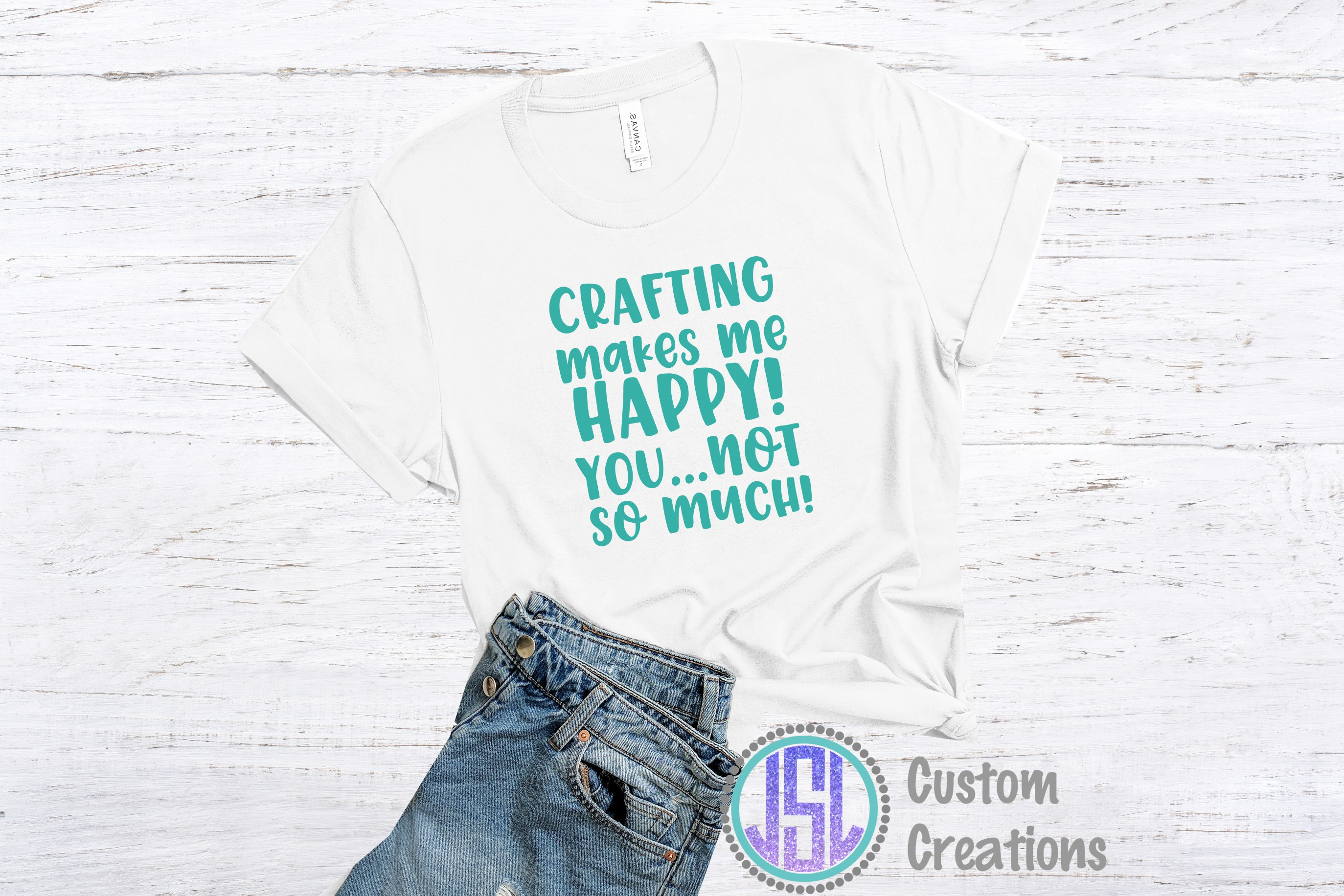 Crafting Makes me Happy| SVG DXF EPS PNG Digital Cut File example image 2