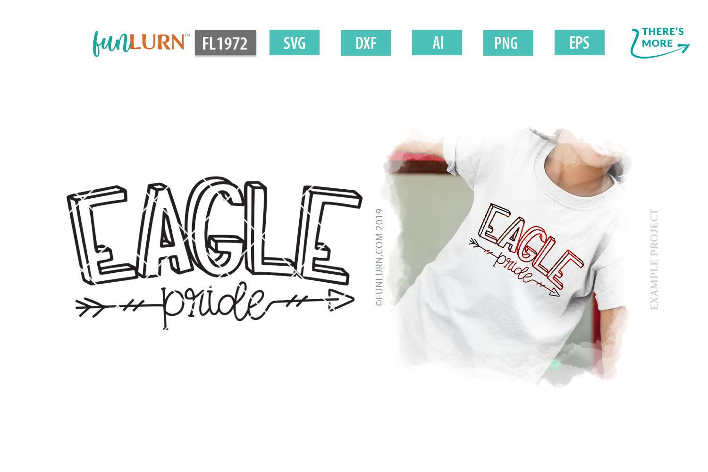 Eagle Pride Team SVG Cut File example image 1