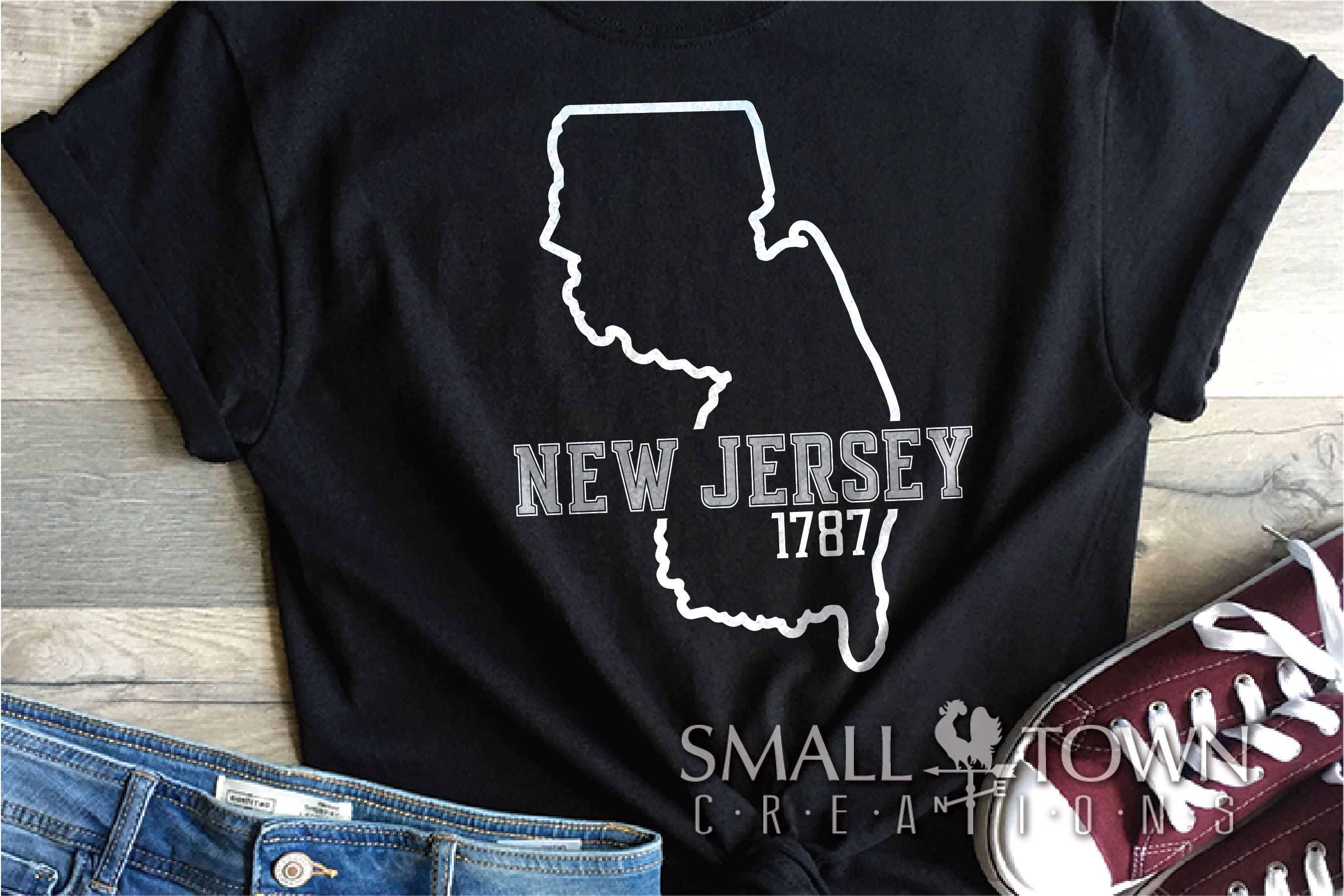 New Jersey, Garden State - slogan, PRINT, CUT & DESIGN example image 8