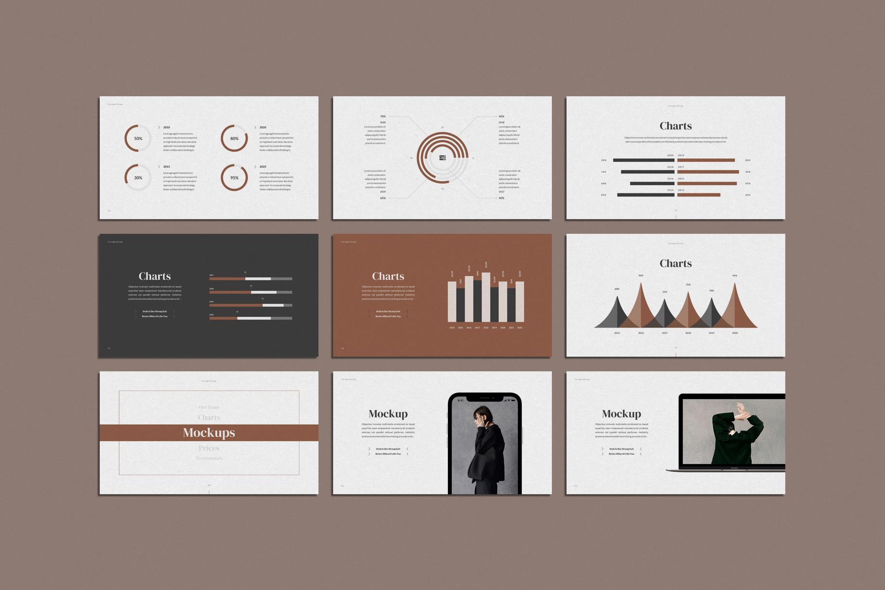 Vermillion PowerPoint Presentation Template example image 13