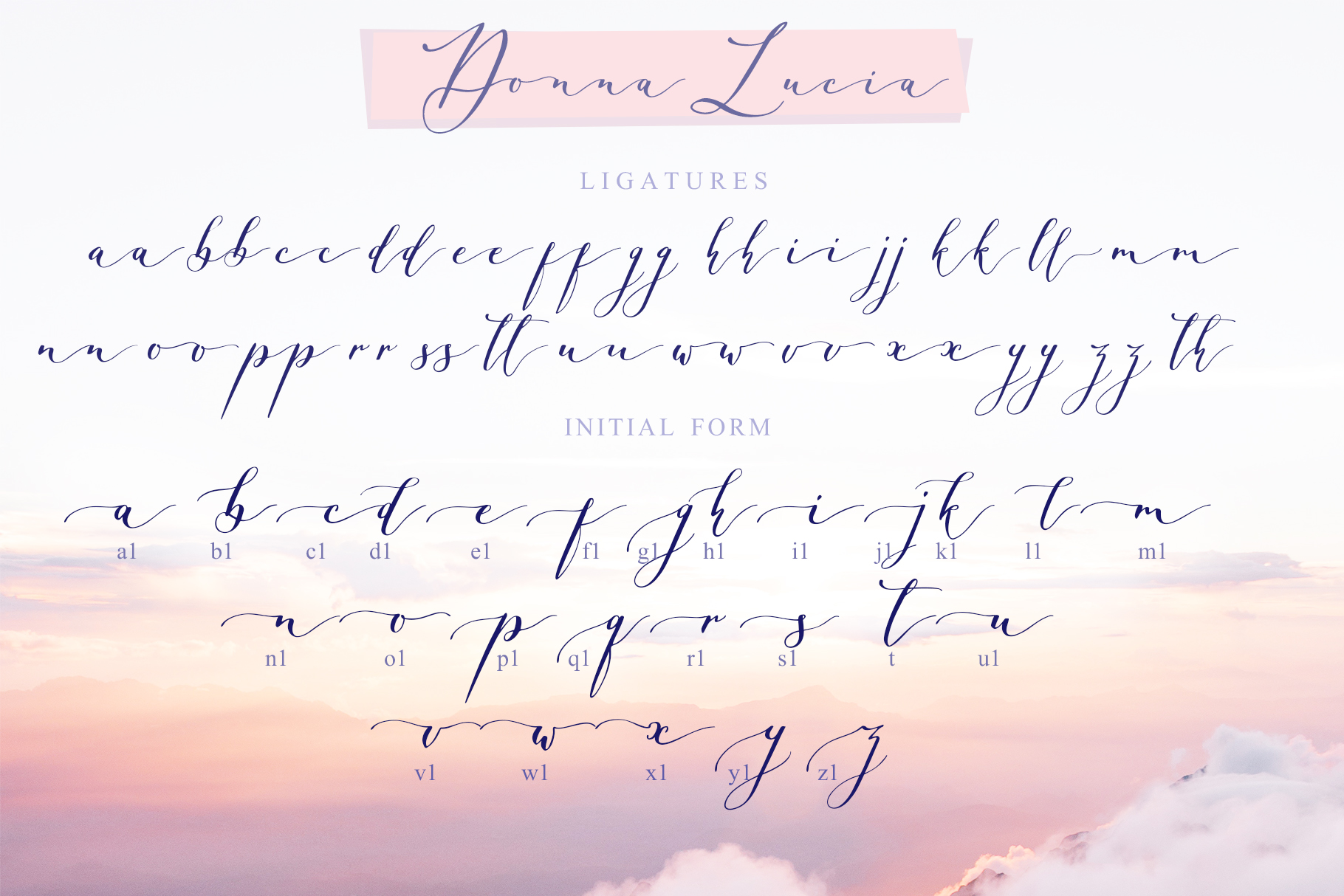Donna Lucia font + Extras & Logo example image 10