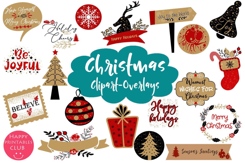 Christmas Overlays-Clipart Bundle-Holiday Overlays Bundle example image 2