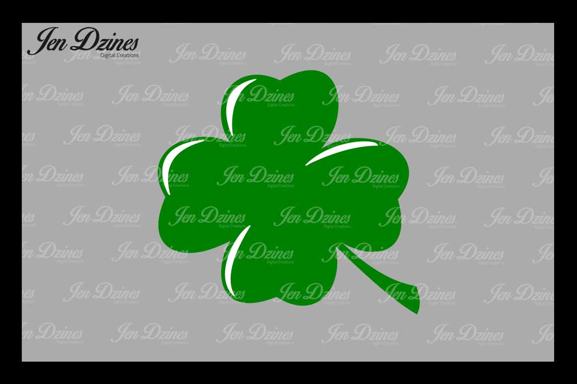 Lucky Clovers SVG DXF EPS PNG example image 3