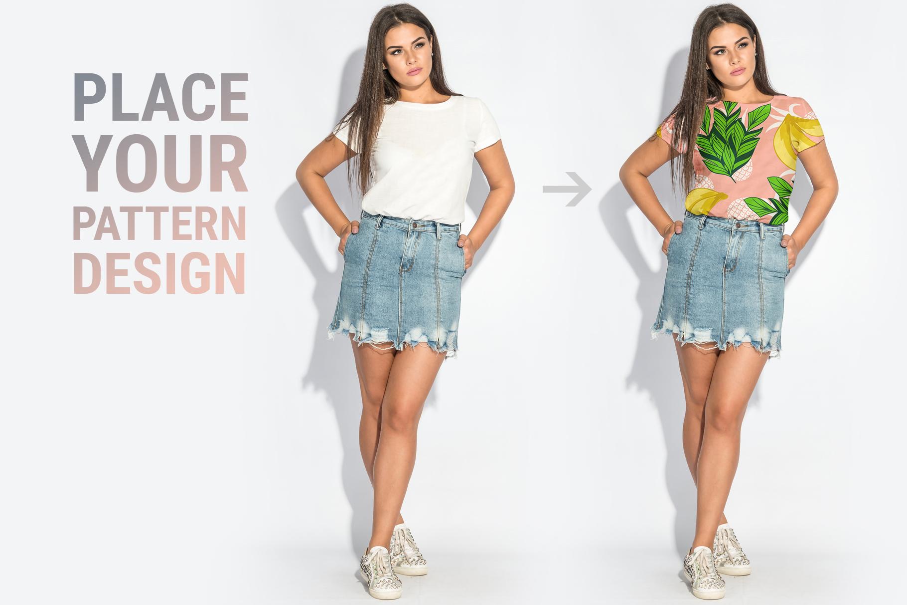 Plus Size T-shirt Mockup Bundle example image 2