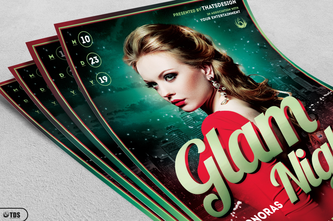 Glam Night Flyer Template example image 3