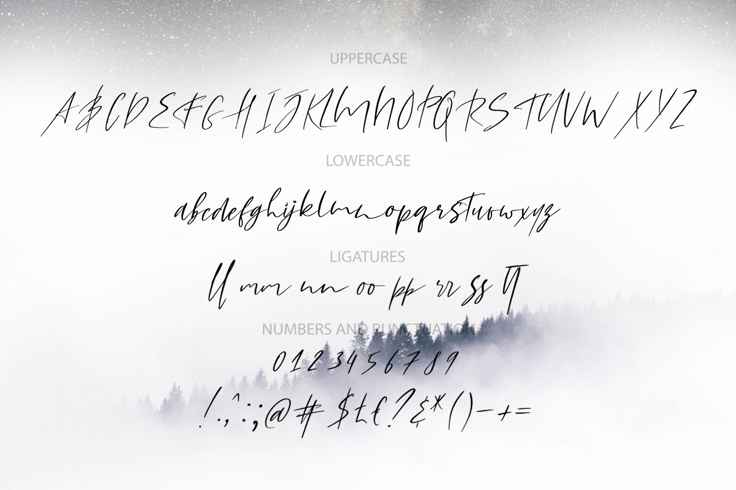 Yellow Star. Textured Signature Script Font example image 7