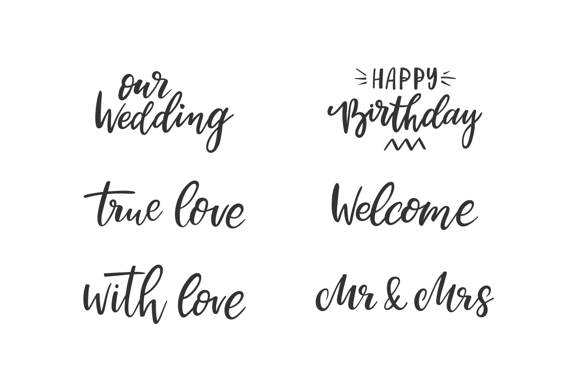 Family Lettering Pack example image 10