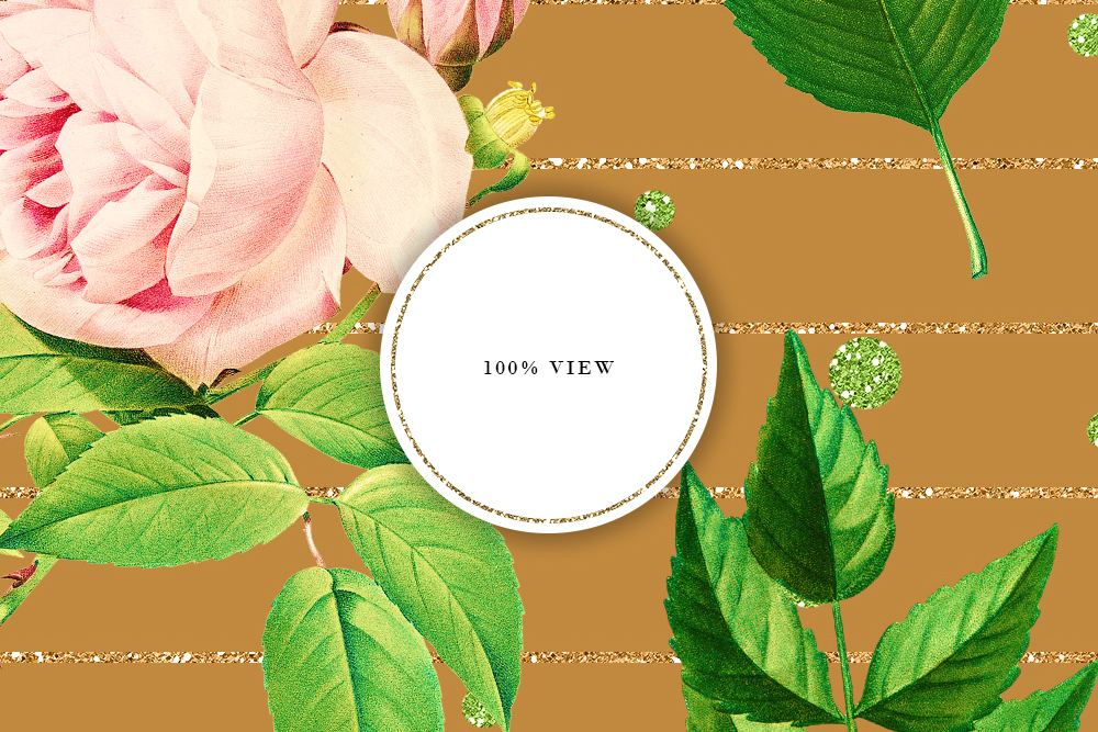 Tileable Beige Backgrounds With Vintage Flower Illustrations example image 5