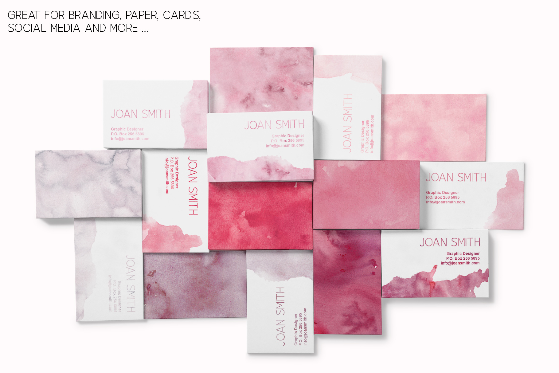 15 Huge Seamless Pink & Grey Watercolor Textures example image 11