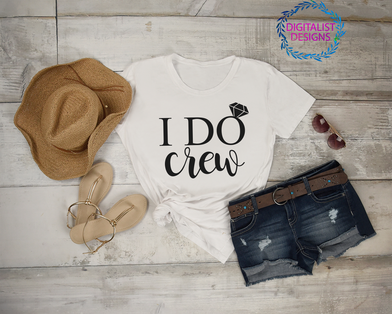 wedding svg, i do crew svg, wedding ring svg, bride shirt, bridal party, bride gifts, iron on, svg for cricut design space, silhouette example image 2