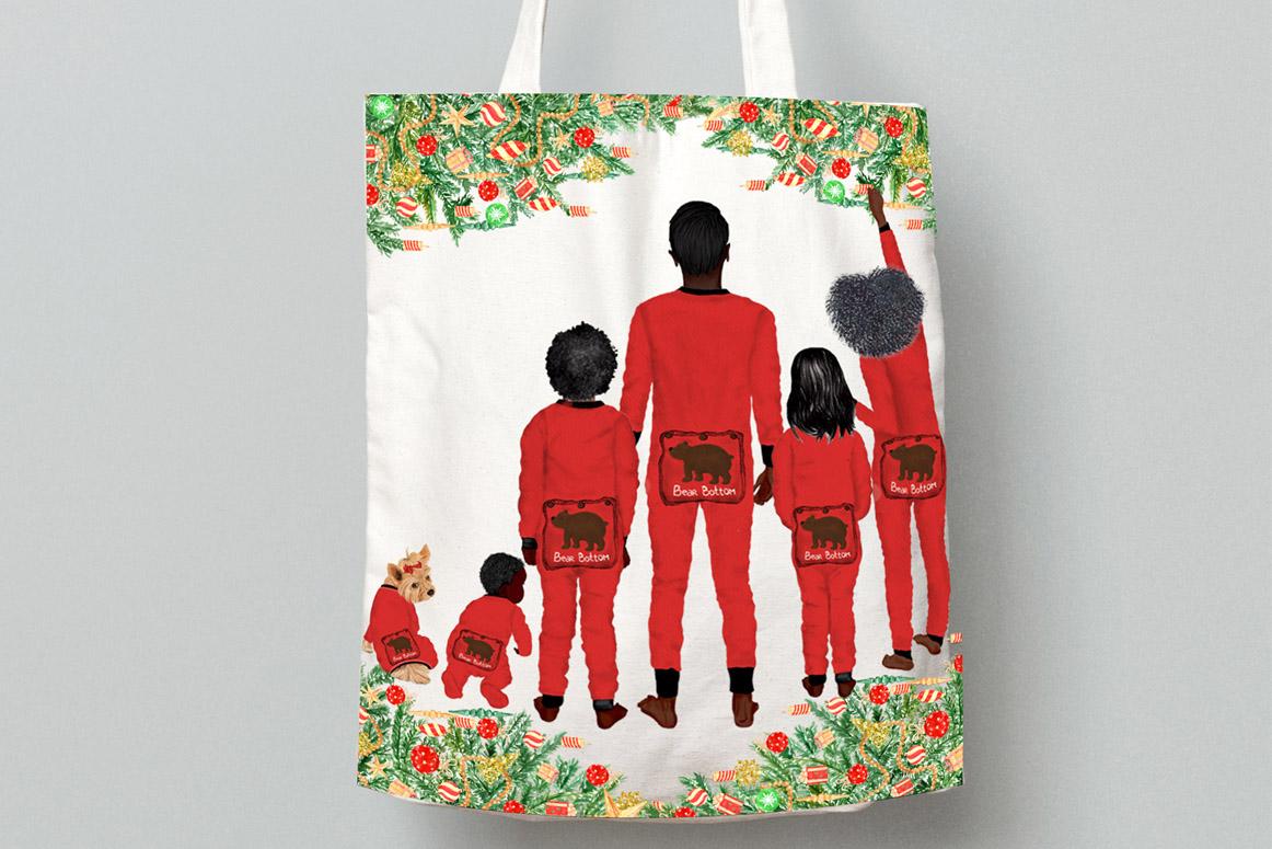 Watercolor Christmas Family Clipart Christmas Mug designs example image 6
