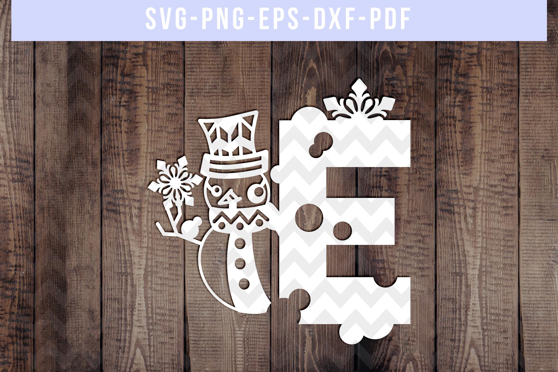 Bundle Of 26 A-Z Snowman Alphabet Papercut Templates, SVG example image 6