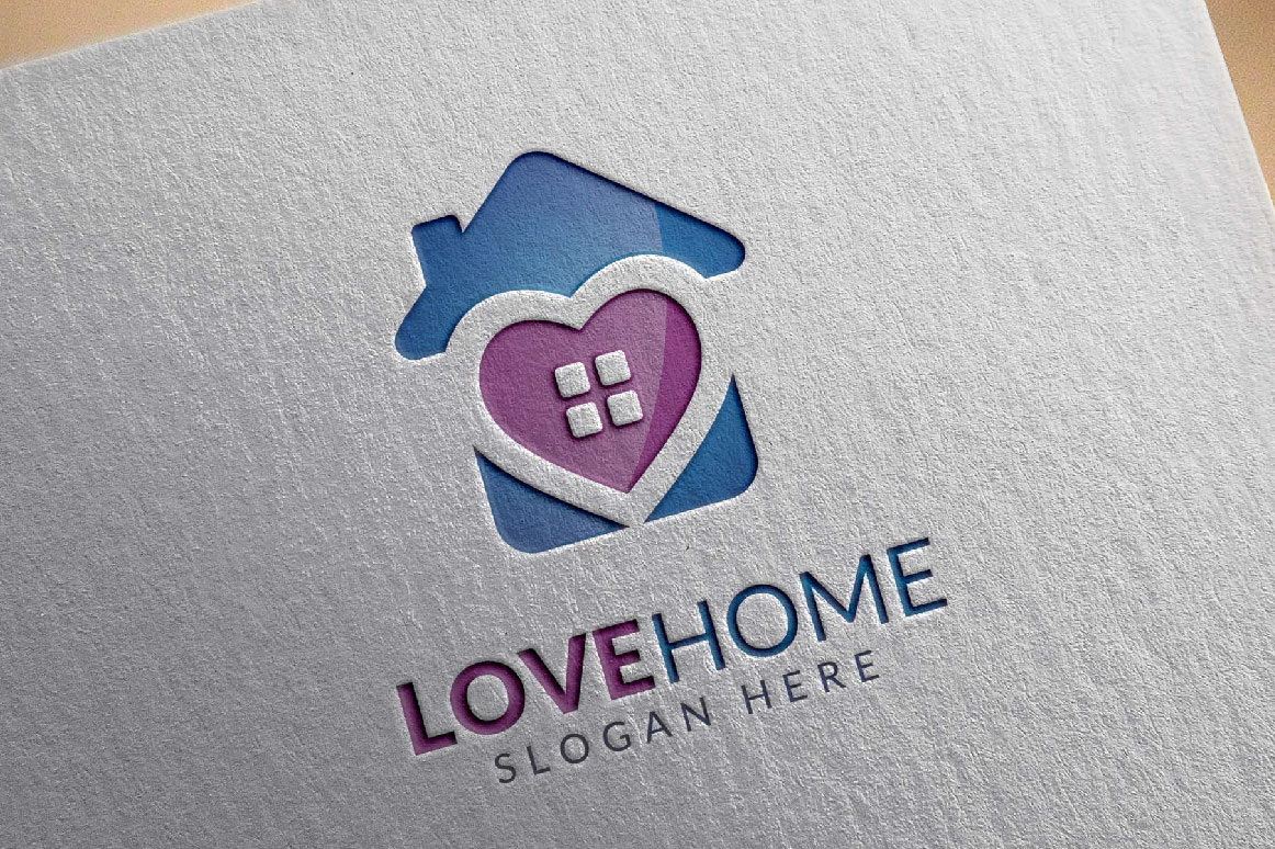 Love home logo, real estate logo example image 2