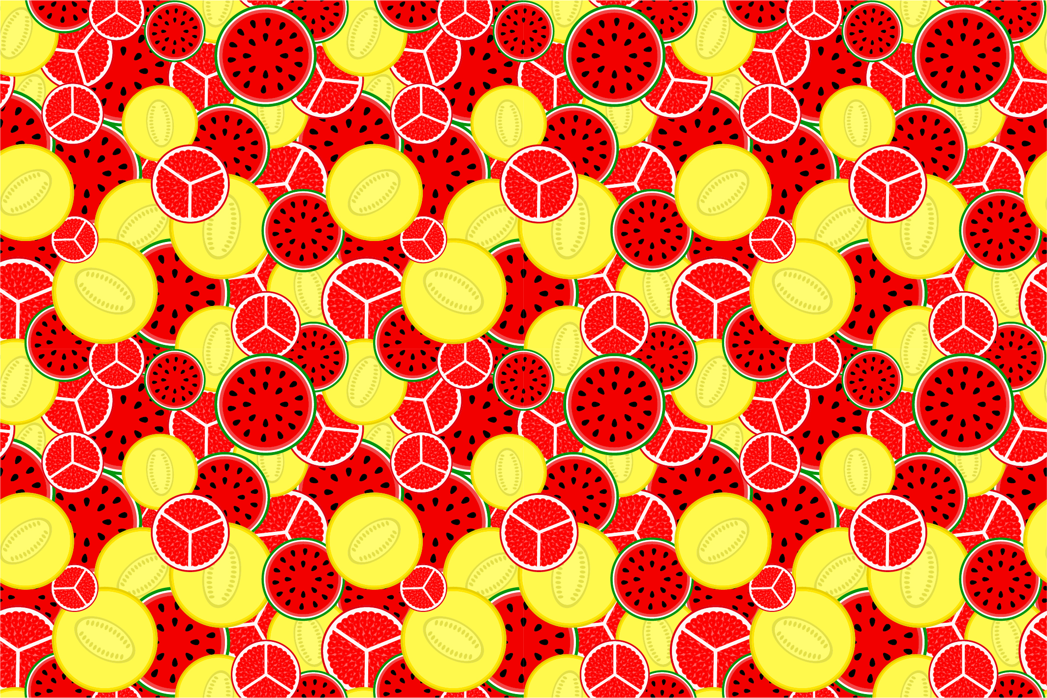 Fruit seamless patterns. Swatches. example image 11