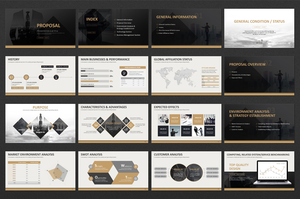 Business Strategy PowerPoint Template example image 2
