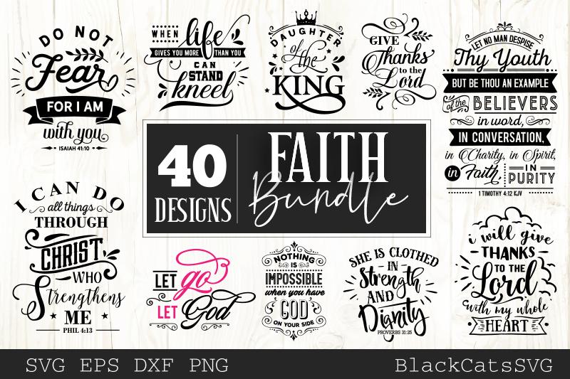 Faith SVG bundle 40 designs Christian SVG bundle example image 2