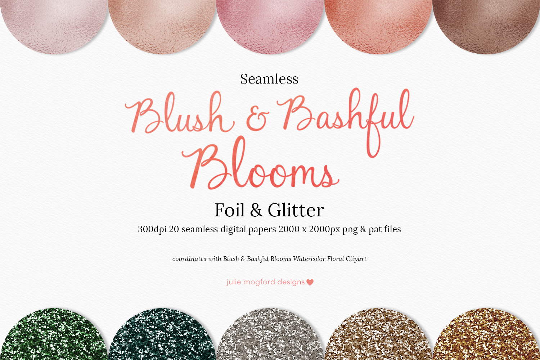 Blush & Bashful Blooms - Foil & Glitter example image 1