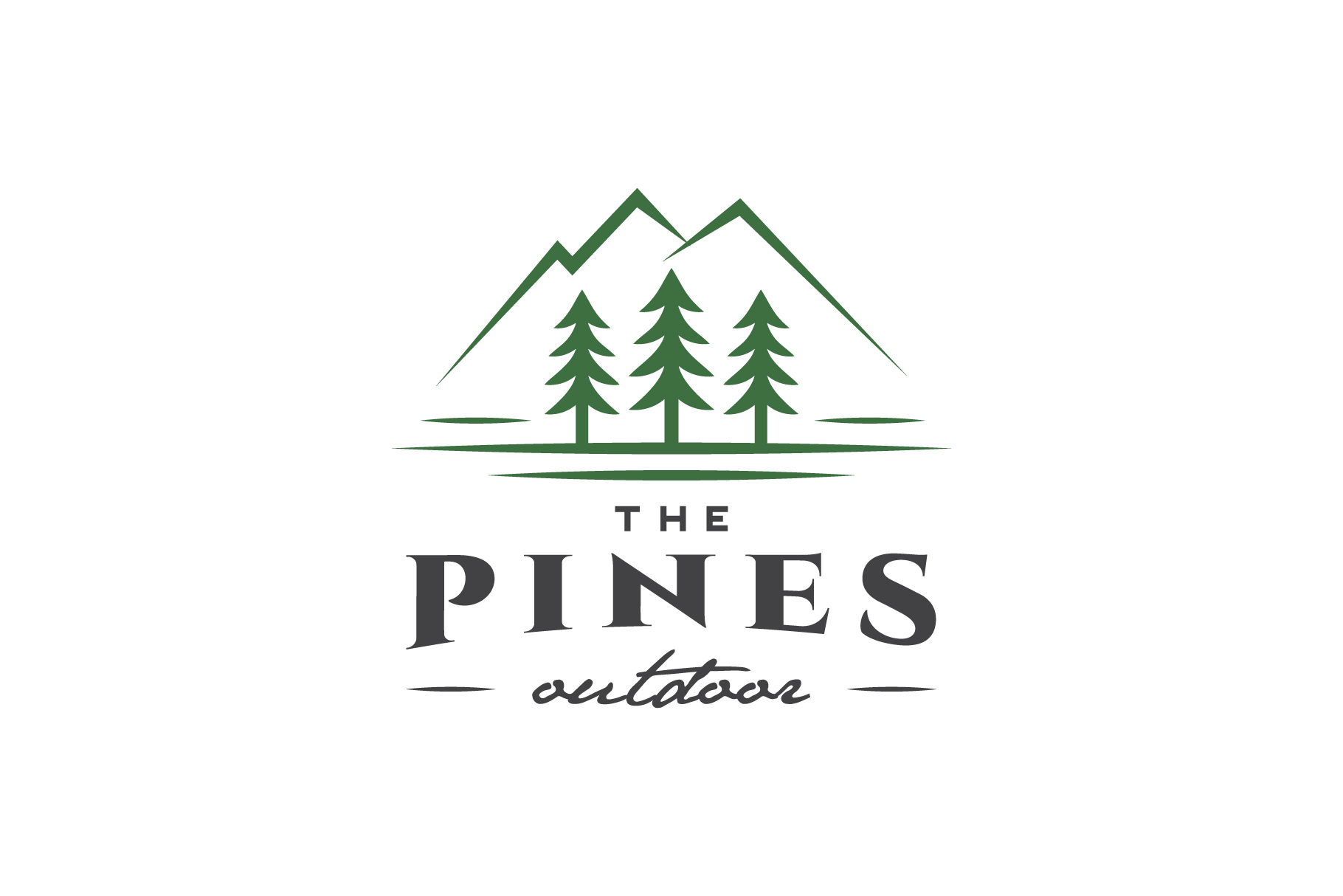 Pines Outdoor Logo example image 1