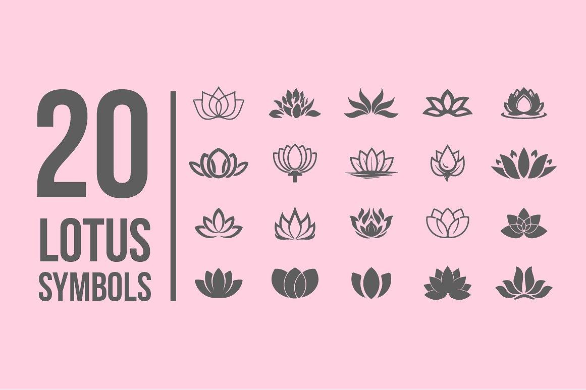 Pack of 77 decorative flower symbols example image 2