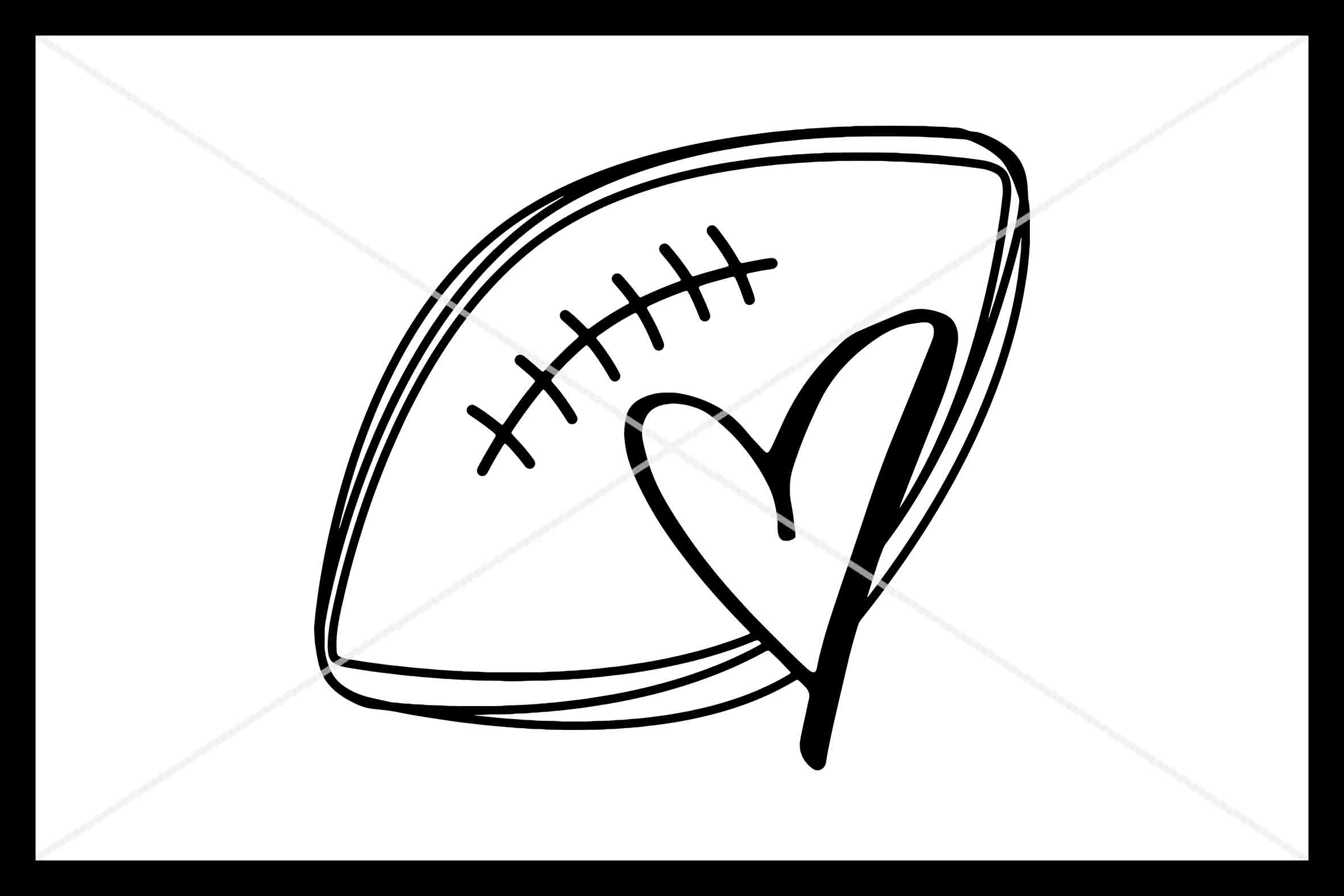 Football Love, SVG, Love, Football, Silhouette Cameo, Cut example image 1