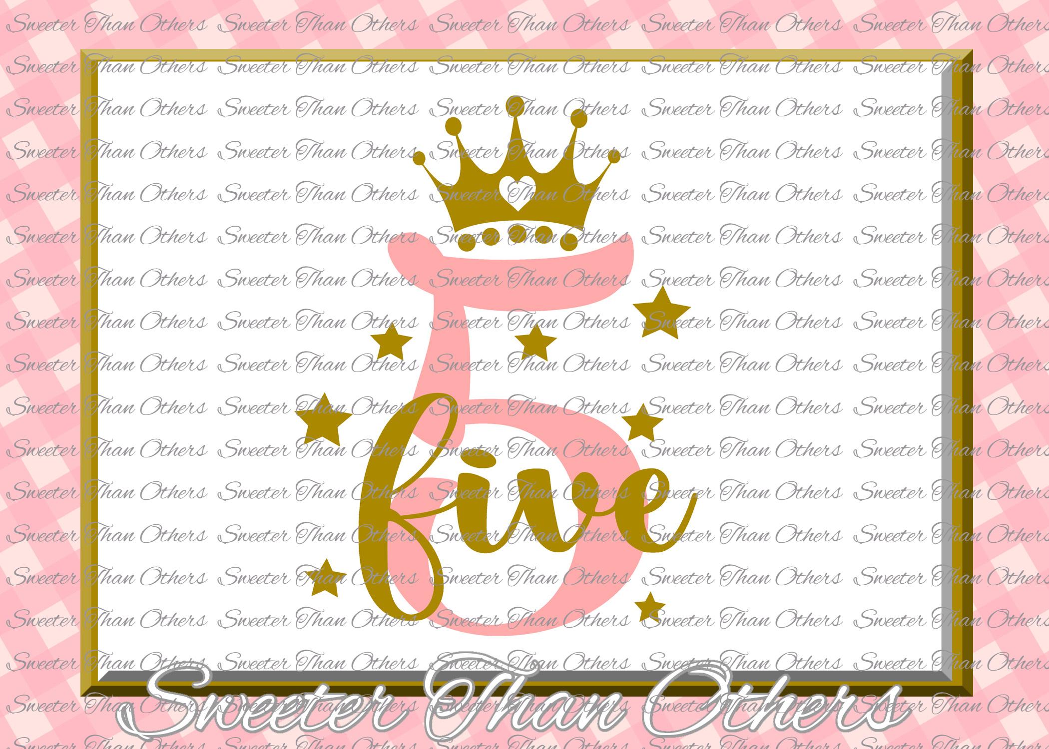 Fifth Birthday SVG, 5th Birthday svg example image 1