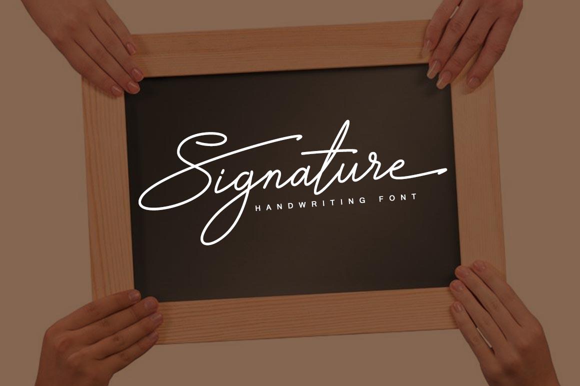 Signature TypeFace example image 1
