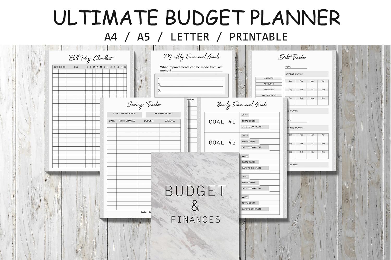 finance planner budget planner bill t design bundles