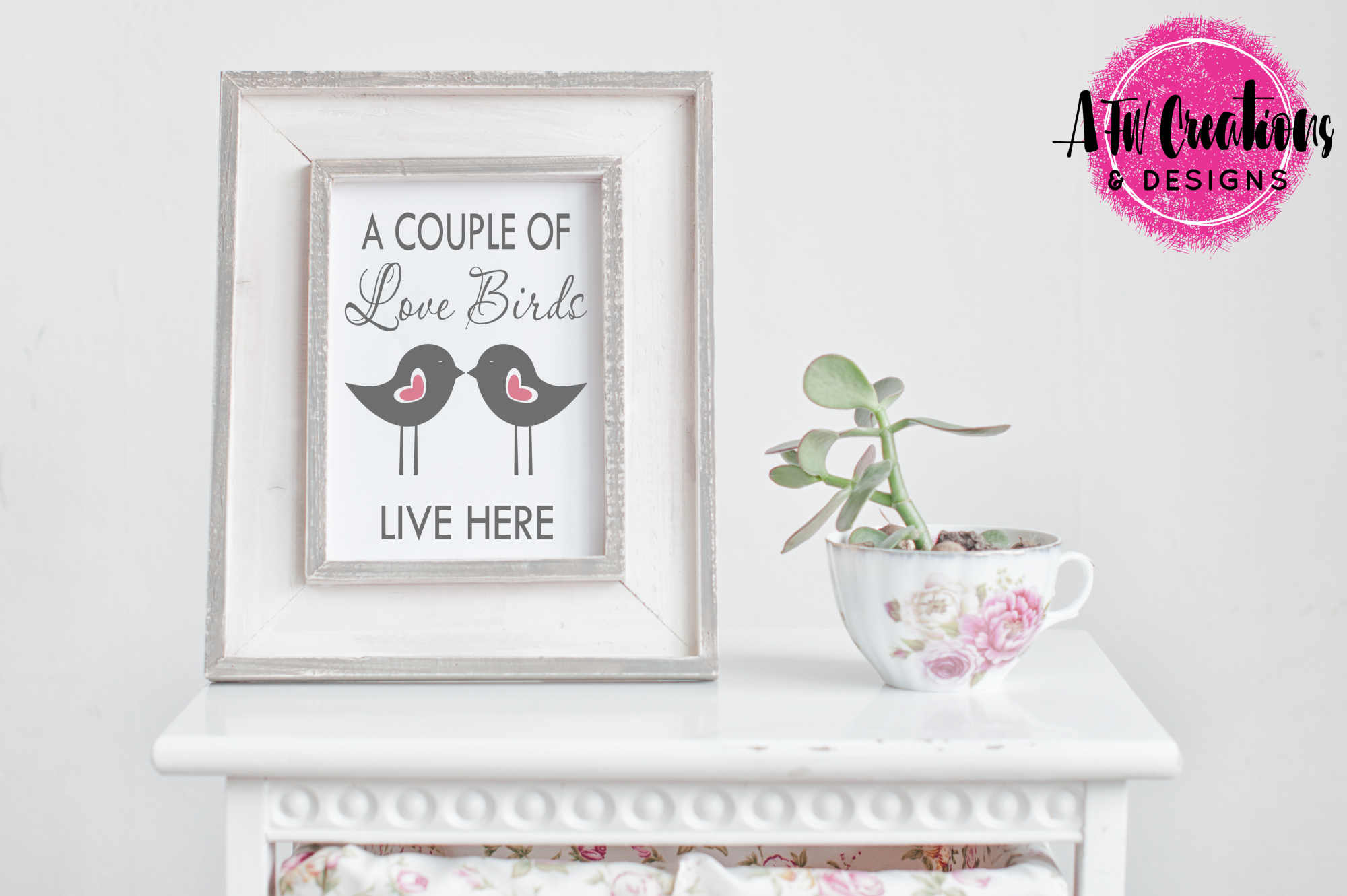 Love Birds Live Here - SVG, DXF, EPS Cut File example image 2