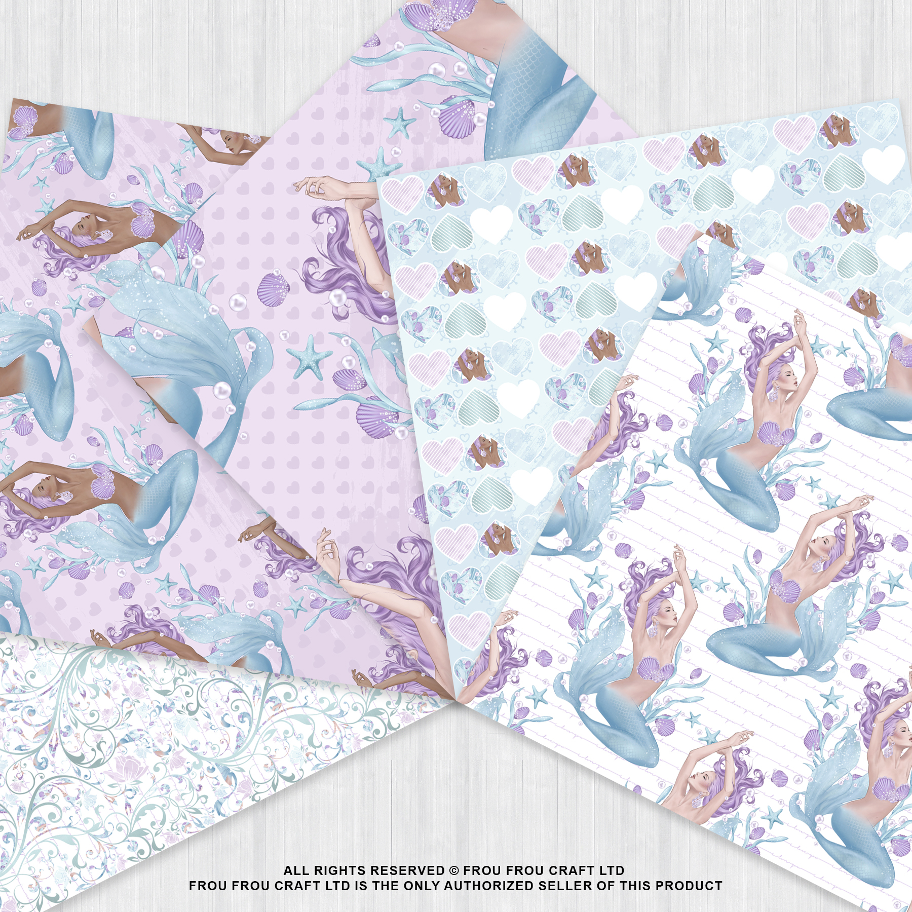 Mermaid Fairy Tale Sea Shell Ocean Paper Pack example image 3