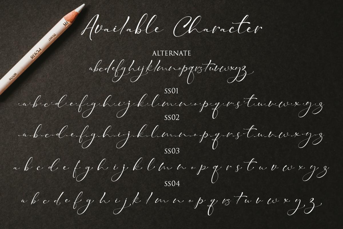 Taman Signature   Stylish Modern Script example image 6