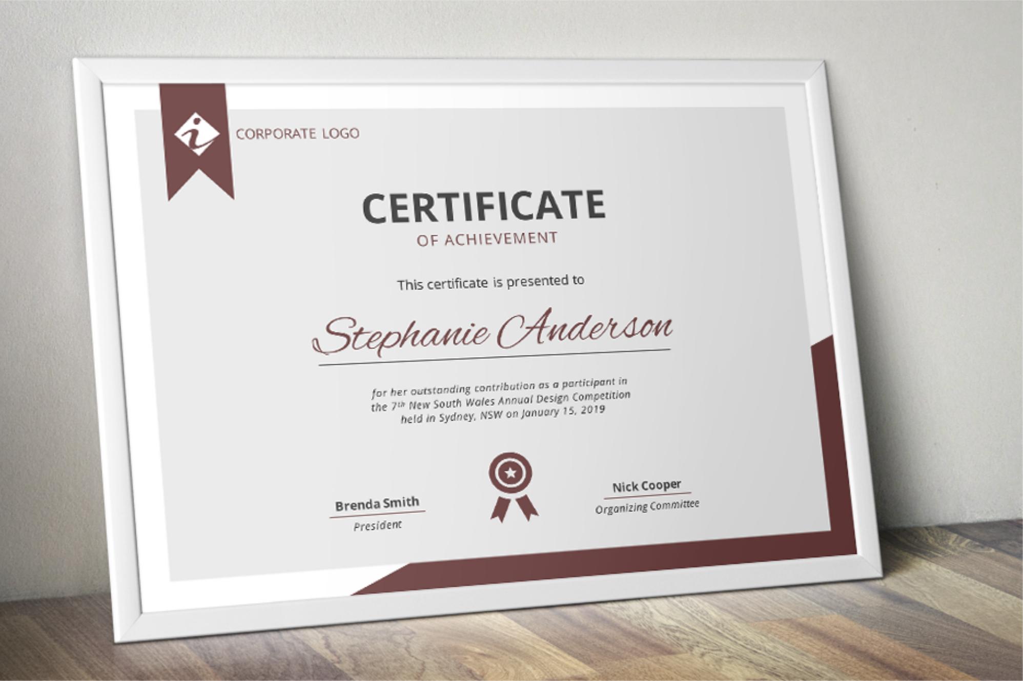 certificate word template templates designer brilliant presentation layout advertise ways achievement inkpower ms license follow xfanzexpo