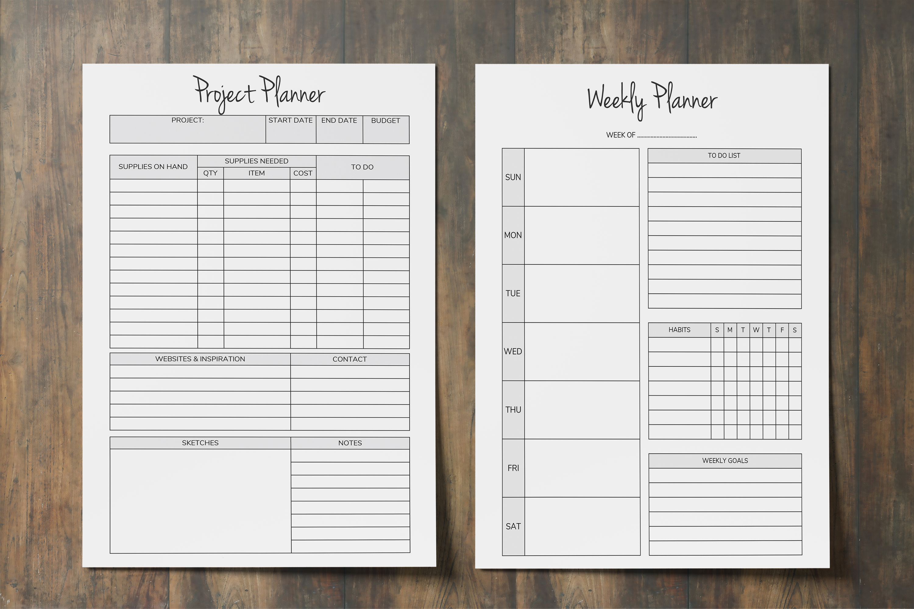 Productivity Planner Printable, Goal Plan, Time Management example image 6