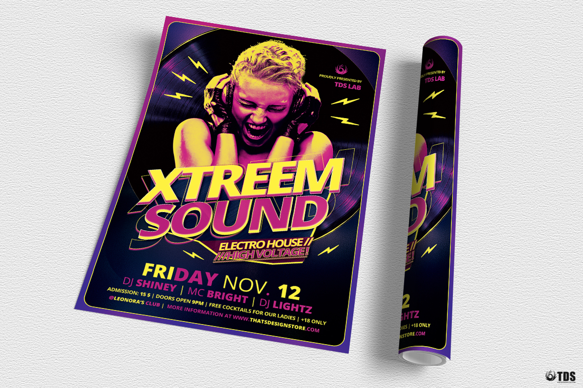 Xtreem Sound Flyer Template example image 3