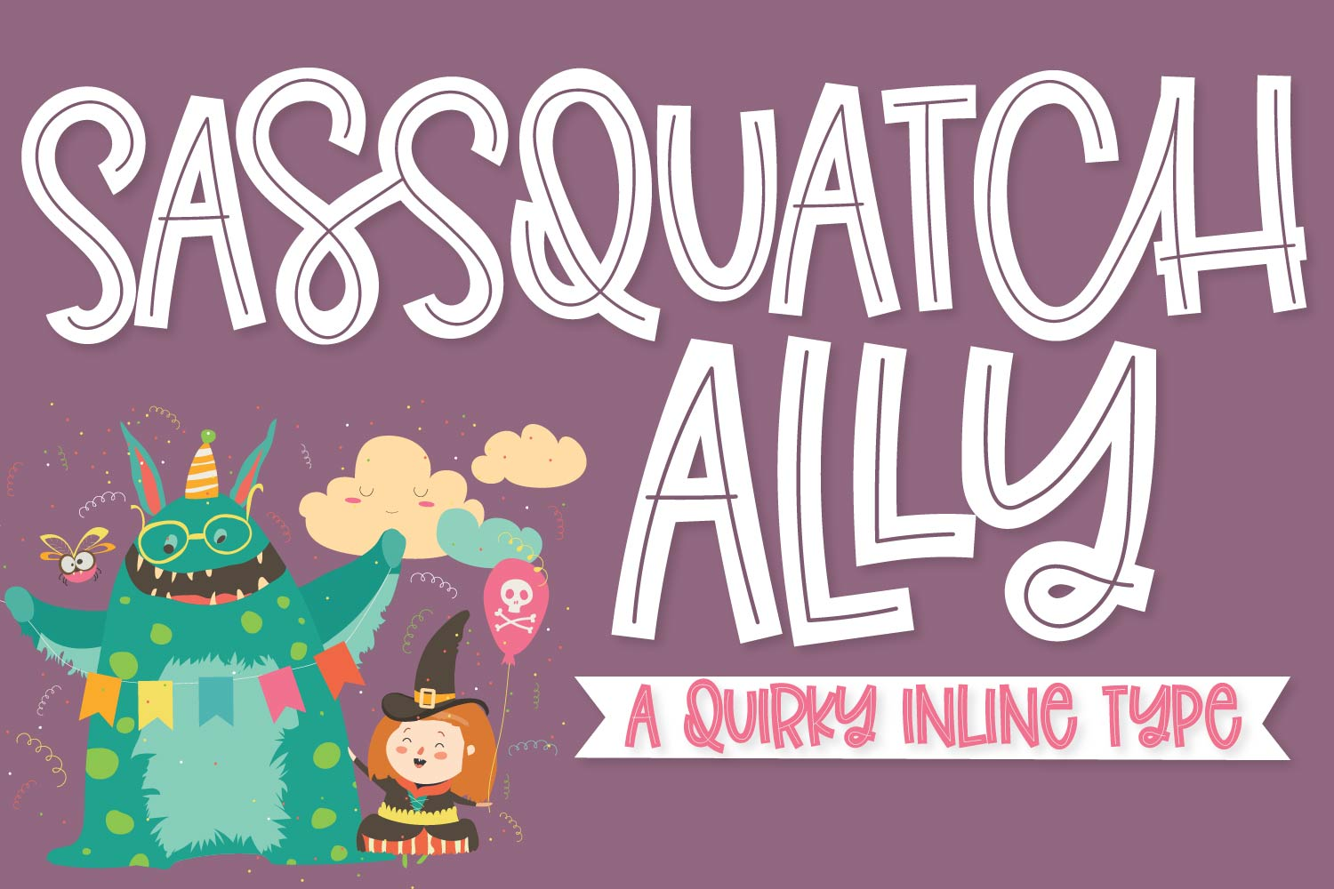 Sassquatch Ally - A Quirky Inline Type example image 1