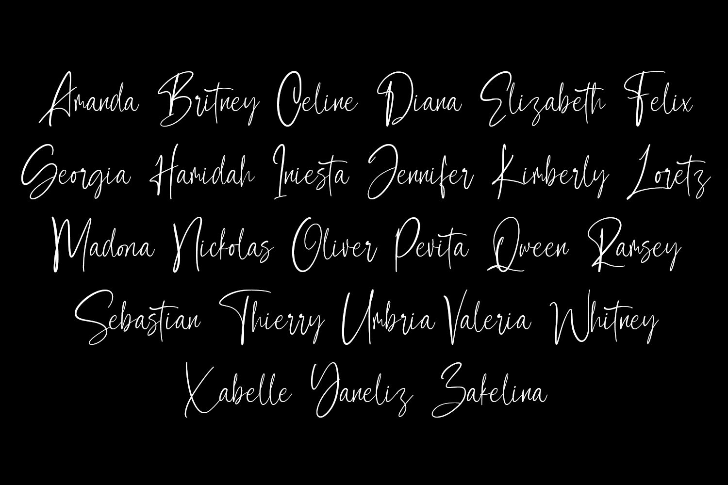 Contributor Calligraphy Font example image 2