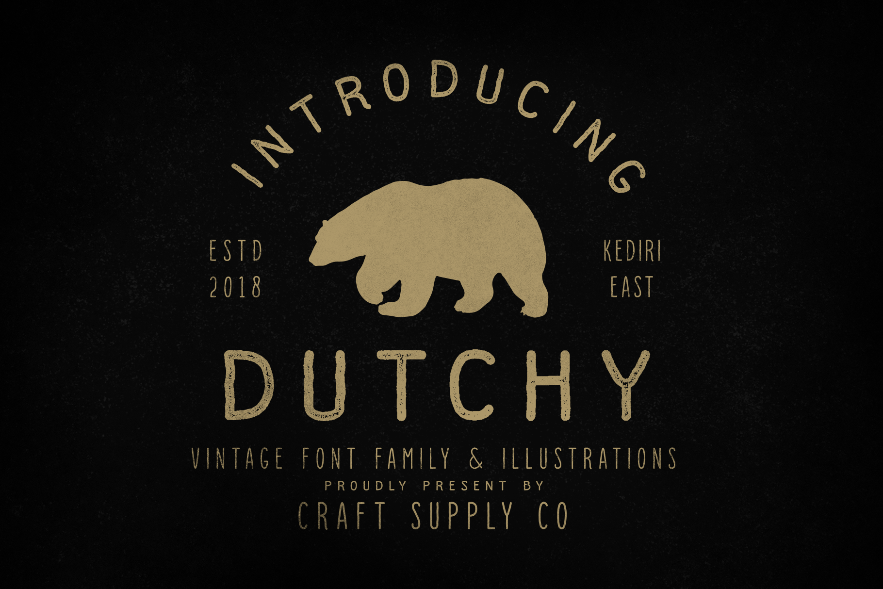 Dutchy - Vintage Type Family with Extras example image 1