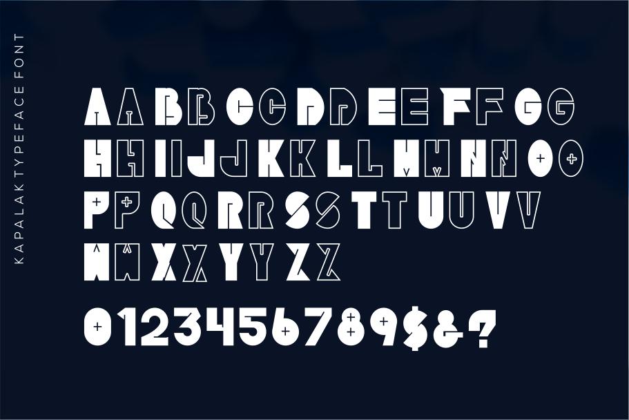 Kapalak font example image 3