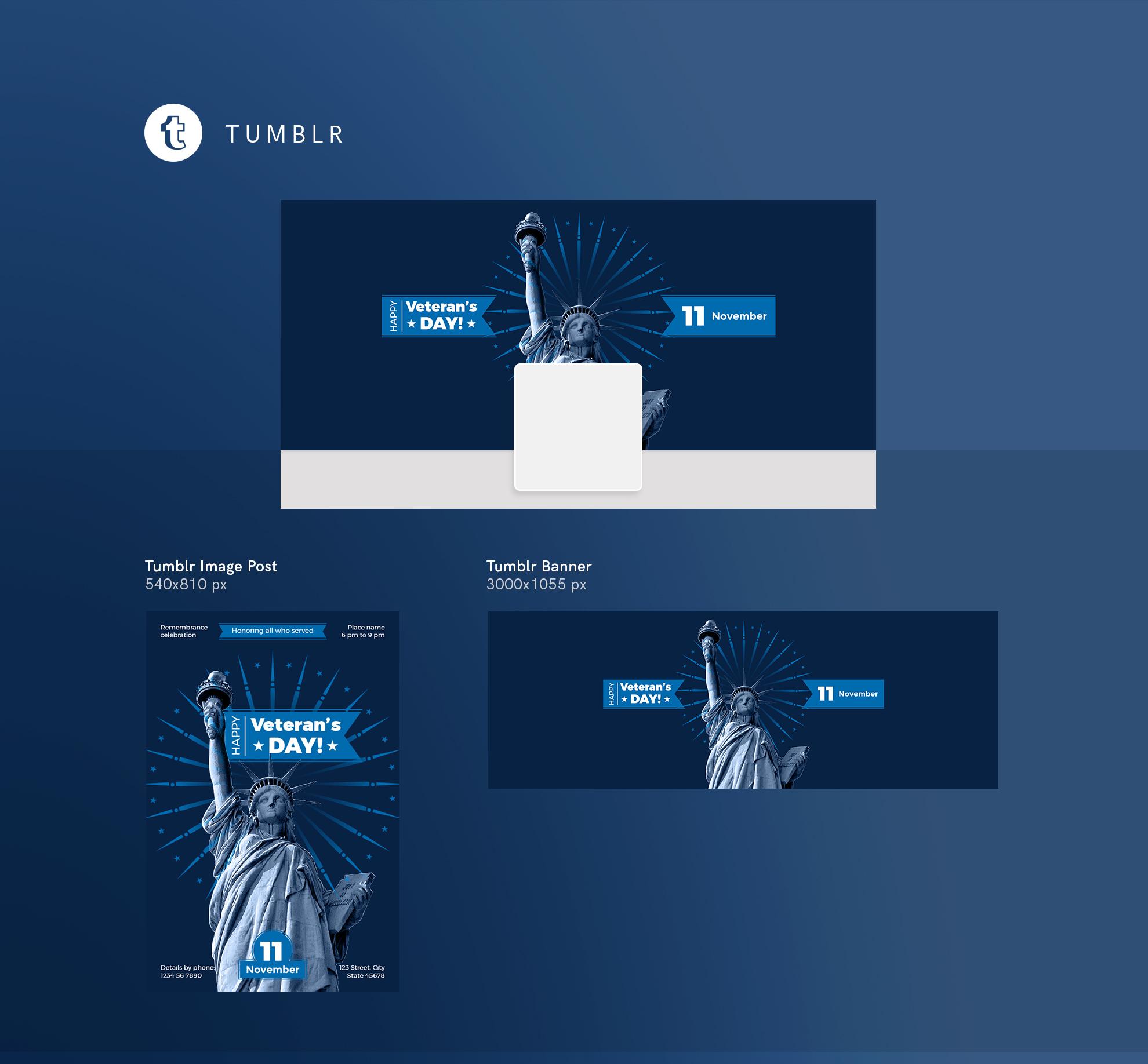 Veteran's Day Celebration Design Templates Bundle example image 13