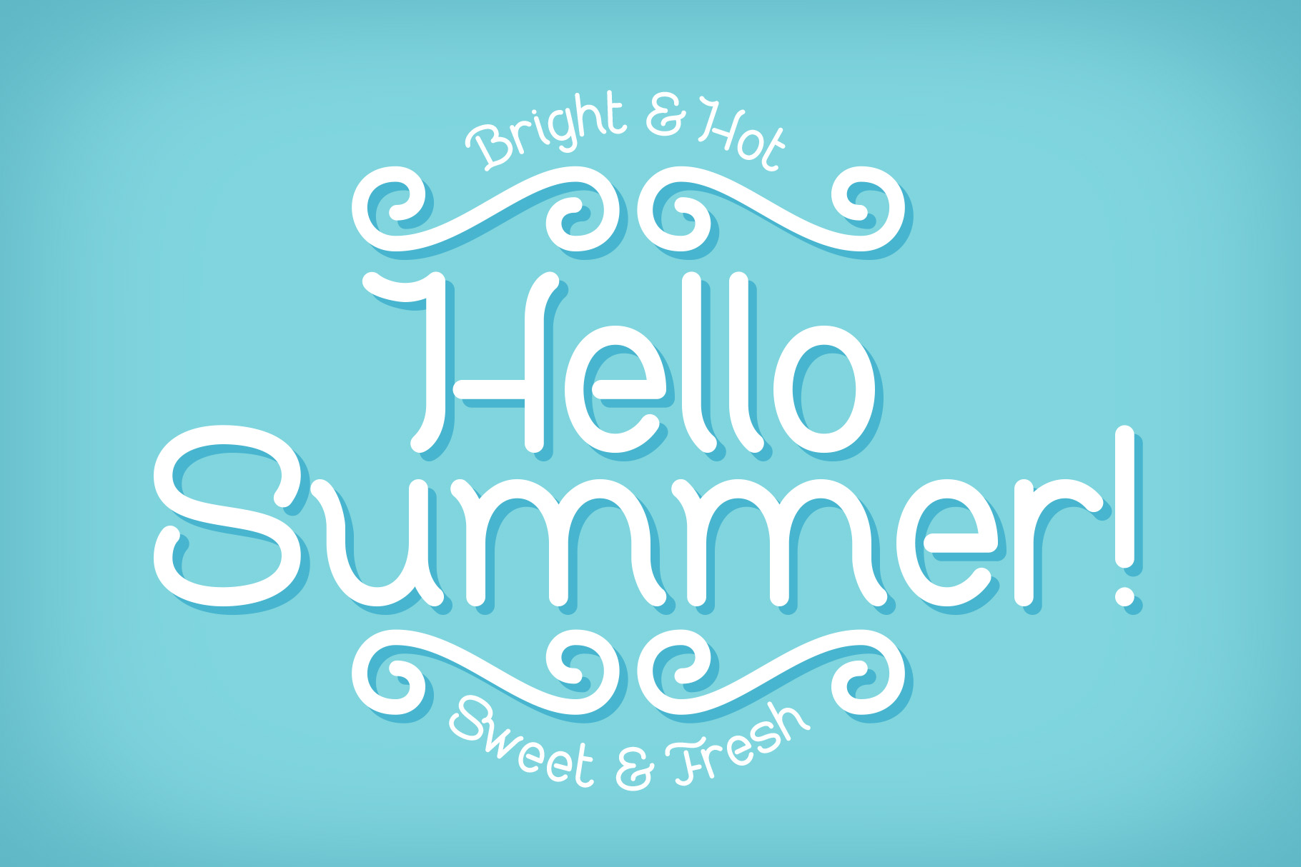 Sweet & Fresh font with Mockup example image 2